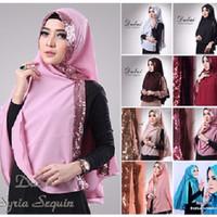 Jual Khimar Dubai Sequin Diamond Premium Hijab TERMURAH Murah