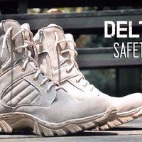 sepatu boot safety Pria boots keren Risleting Black Hawk Delta casual