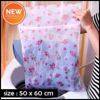 Tempat Baju BRA Celana Dalam Kotor/Tas Laundry Jaring GAMBAR (50X60cm)