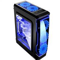 HOT DESIGN SEGOTEP HALO BLACK - FULL SIDE WINDOW + FRONT 3 X 12CM LED
