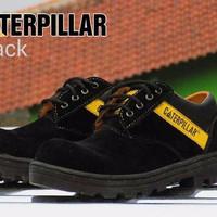Sepatu Boot Hwk Caterpillar Semi Boots Keren Suede Hitam Sekolah