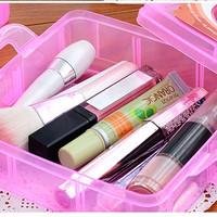Jual Kotak Plastik Susun 3 Tingkat Tempat Simpan Untuk Obat Akik Kosmetik Murah
