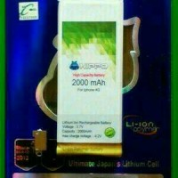 Batre Bateri Batre Dobel Power Hippo Iphone 4S.2000MAH