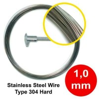 Jual 10 Meter Kawat Stainless Steel Wire 304 1 mm Murah