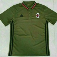 Polo Shirt AC Milan Green 2016/2017 Grade Ori