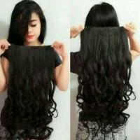 Jual Hair Clip Big Layer 75 cm Curly / hairclip 75cm keriting Murah