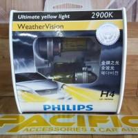 Lampu Philips Weather Vision H4 100/90 Watt - Lampu Mobil Kuning 2900K