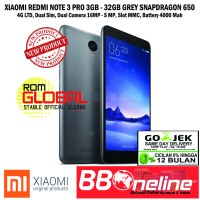 XIAOMI REDMI NOTE 3 PRO 3GB/32GB GREY SNAPDRAGON 650 16 MP 4G LTE.