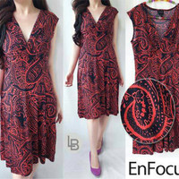 Baju Branded Murah Enfocus Red Bateeq Dress Batik Premium Dress Ori
