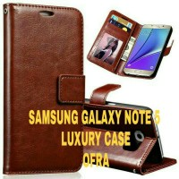 SAMSUNG GALAXY NOTE 5 LUXURY LEATHER WALLET CASE (BACA DESKRIPSI)