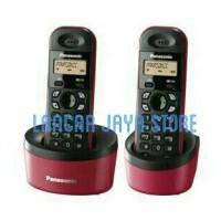 Telepon Wireless Panasonic KX-TG1312 - RED (2 Handset)
