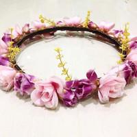 Jual flower crown hiasan rambut indah Murah