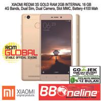 XIAOMI REDMI 3S GOLD RAM 2GB/16 GB GRS 1 TAHUN.