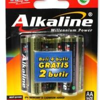 Batu baterai / Battery / Batere / Batre Alkaline AA ABC 6 ( 4 + 2) pcs