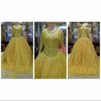 gaun pengantin/baju pengantin wanita warna kuning size M-L