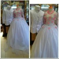 baju pengantin couple sepasang/bisa request warna dan size jumbo