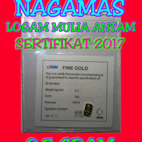 Logam Mulia Antam 0,5 Gram, Lm Antam, Emas Batangan