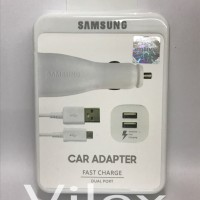 Jual Cas car charger adapter mobil dual SAMSUNG adaptive fast charging Murah