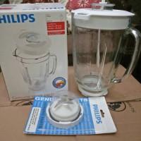 Gelas kaca blender philips hr 2061/2071/2115/2116 ORIGINAL (komplit)