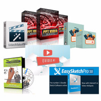 Paket Video CREATOR Best Seller Video Pop Maker FX Videoscribe evidio