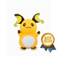 Boneka Original RAICHU ( Pokemon Plush Doll RAICHU ) 8 inch