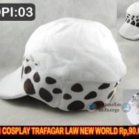 topi trafalgar D matel law new word, topi cosplay one piece