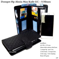 Dompet hp import alexia max kulit GC mini - S up to 5,8 inc hitam