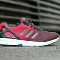 sepatu adidas ZX flux reflective men red