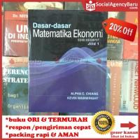 harga Dasar-dasar Matematika Ekonomi Jilid 1 Edisi 4 - Alpha C. Chiang Tokopedia.com