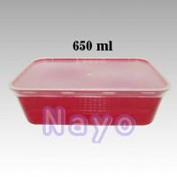 Kotak plastik Pizza Hut 650ml/Tempat makanan/Kotak makan/Thinwall
