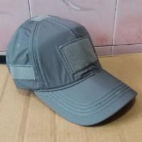 Topi Velcro Gray Topi Army Abu-Abu