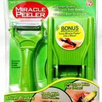 Jual MIRACLE PEELER 2 IN 1 Pengupas Kulit buah & Sayuran + Parutan Murah