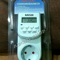 harga Stop Kontak Timer Digital merk Kaiser KSR-K28 Tokopedia.com