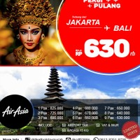 Jual Tiket Promo Fixed AirAsia Jakarta - Bali Murah