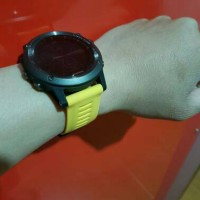 Garmin Fenix 3 silicon band watch - yellow