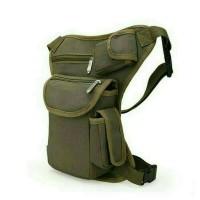 Jual tas selempang pria/tas paha/waistbag import/tali bisa dipanjangkan Murah