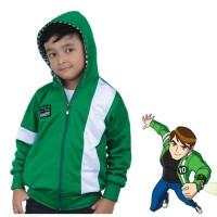 Jual Baju jaket kostum anak laki-laki SUPERHERO karakter BEN 10 Alien Force Murah
