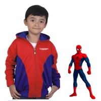 Jual Baju jaket kostum anak pria karakter SPIDERMAN avangers SUPERHERO Murah