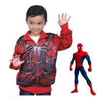 Jual Baju jaket kostum anak laki-laki karakter SPIDERMAN avangers SUPERHERO Murah