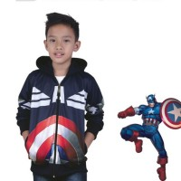 Jual Jaket kostum anak karakter SUPERHERO captain america KAPTEN Amerika Murah