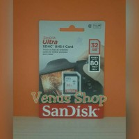 sandisk ultra sdhc sdcard 32gb 80mbps class 10 / sd card 32gb 80mb/s