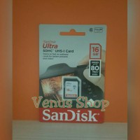 sandisk ultra sdhc sdcard 16gb 80mbps class 10 / sd card 16gb 80mb/s