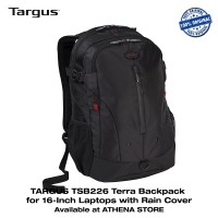 "TARGUS TSB226 Terra Backpack Tas Laptop Ransel 15.6"" with Rain Cover"
