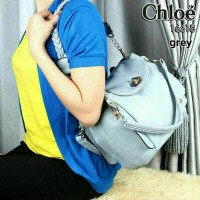 Tas Chloe 16718 Grey - import branded semi premium