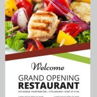 brosur flyer A5 1 muka restoran makanan food produk