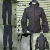 Jaket Jas Hujan Raincoat DMM Doreng Hitam Original Loreng