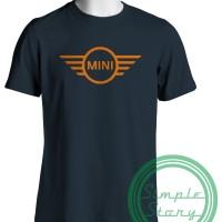 Baju Kaos Distro Gildan Softstyle Mini Cooper Logo