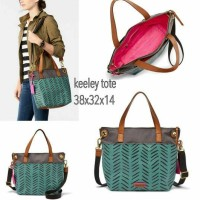 FOSSIL KEELY TOTE GREEN
