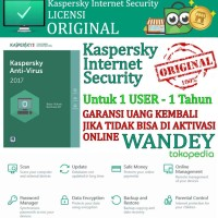 Antivirus Kaspersky Internet Security 2017 for 1 USER / PC