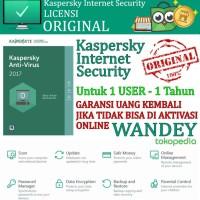 harga Antivirus Kaspersky Internet Security 2017 For 1 User / Pc Tokopedia.com